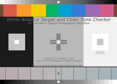 J.Chin White Balance Target and Color Tone Checker